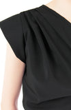 Smitten by Love One Shoulder Top - Black