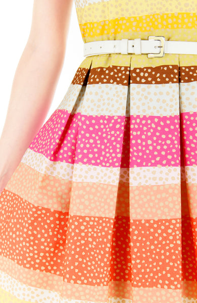 Snowflakes on a Christmas Sunset Flare Dress