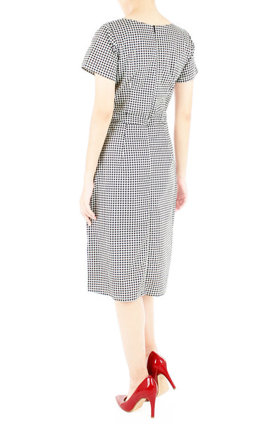 Sophisticated Houndstooth Jeane Dress