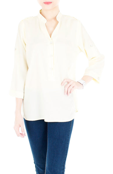 Stay Classic Utility Blouse - Vanilla