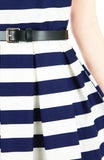 Stripes Done Right Flare Dress