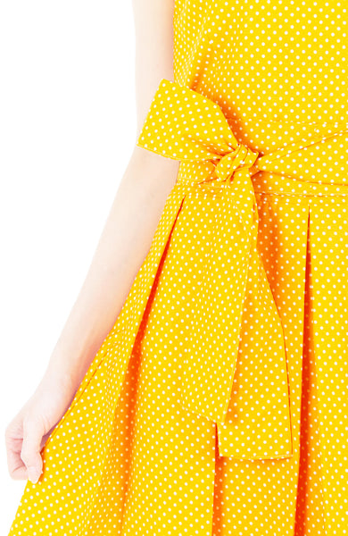 Sunny Marigold Yellow Two-way Flare Dress