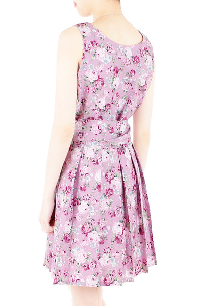 Sweet Rose Mauve Two-way Flare Dress