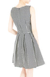 The Timeless Houndstooth Flare Dress - Black