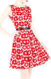The 50s Flower Power Flare Dress