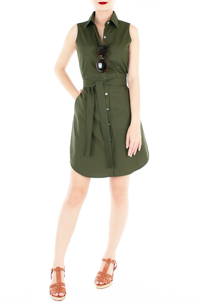 The Effortless Shirtdress – Army Green