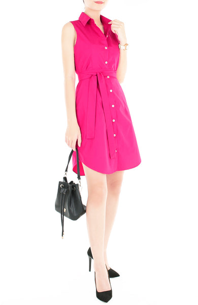 The Effortless Shirtdress - Hot Pink