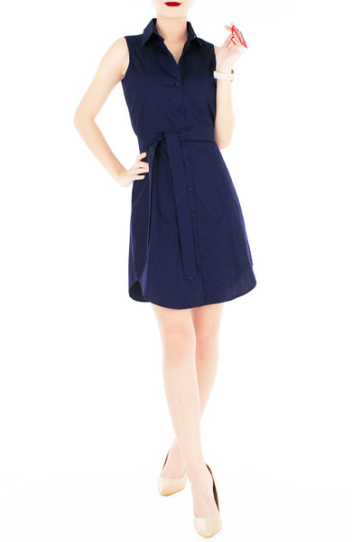 The Effortless Shirtdress - Midnight Blue