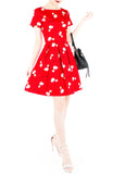The Fla-mazing Red Flare Dress