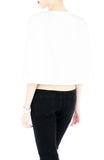 Think Tank Cape in Cropped Length - White