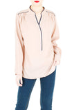 Transition Accomplished Long Sleeve Blouse - Latte