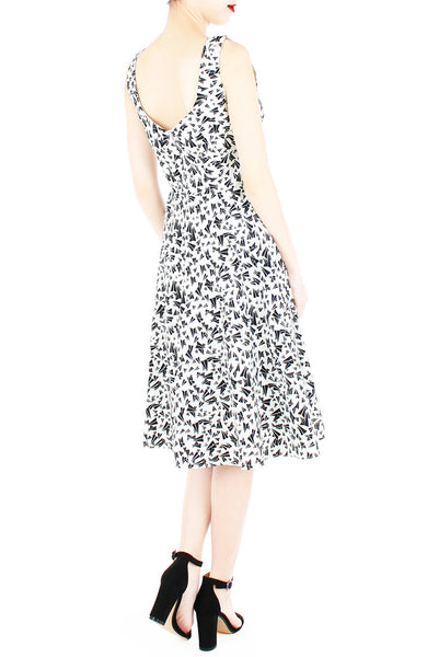 Traveling Paper Planes Flare Midi Dress