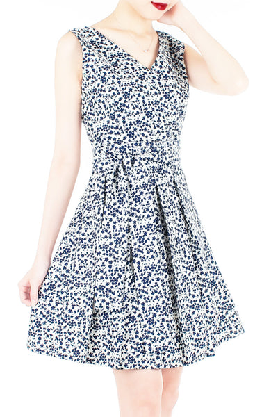 Tsuki-hana Two-way Flare Dress - White