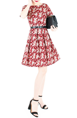 products/Vintage_Blossoms_in_Mahogany_Flare_Dress_with_Short_Sleeves-2.jpg