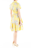 Vintage Heirloom Roses Anna Shirtdress - Yellow