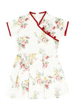 Vintage Porcelain Blooms Cheongsam Dress
