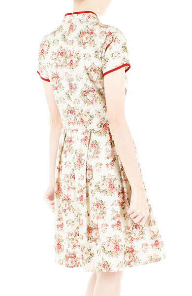 Vintage Rose Concubine Cheongsam Dress