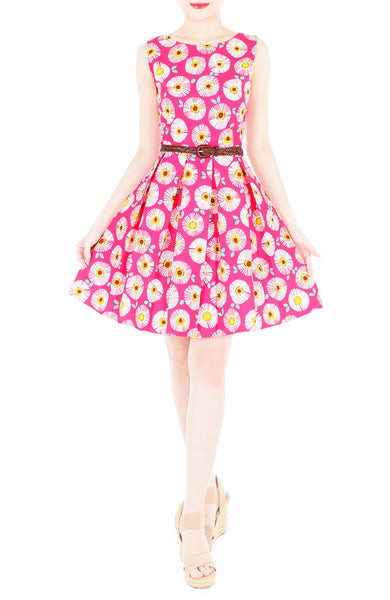 Wallflower Daisy Flare Dress - Pink