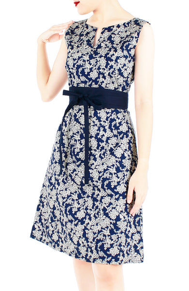 Wandering Blooms Toile Stella Dress