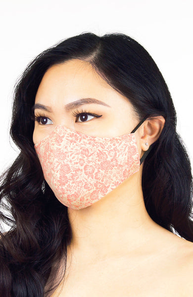Wiltshire Gardens Pure Cotton Face Mask - French Rose