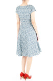 Wiltshire Gardens Flare Tea Dress - Aegean Blue