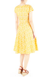 Wiltshire Gardens Flare Tea Dress - Daffodil