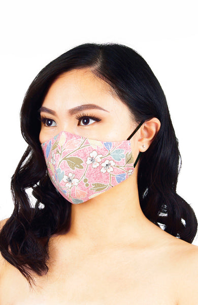 Winter Sakura Pure Cotton Face Mask - Ice Pink