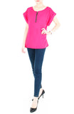 Zip that Memory Blouse - Hot Pink