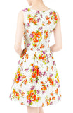 Budding Artist Flare Dress - Orange