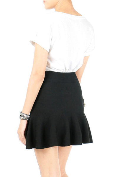 Cloud Nine Trumpet Skirt - Black