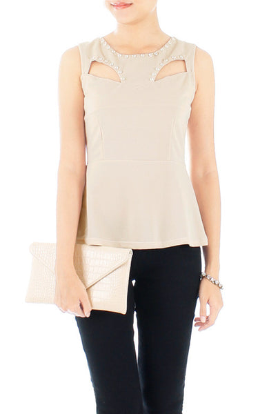 Diamonds Are Forever Peplum Blouse - Ivory