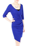 En Pointe Wrap Side Dress - Blue