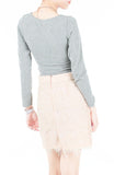 Exquisite Elegant Lace Pencil Skirt - Ivory Pink