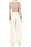 Fall In Love Lace Palazzo Pants - Cream