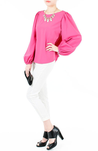 Fiesta Long Sleeve Blouse - Primrose Pink