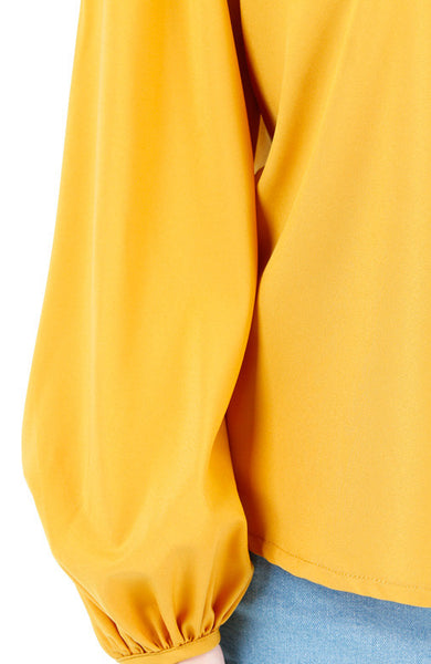 Fiesta Long Sleeve Blouse - Yellow Ochre