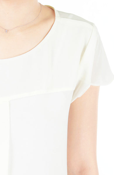 Flow And Flutter Blouse - White