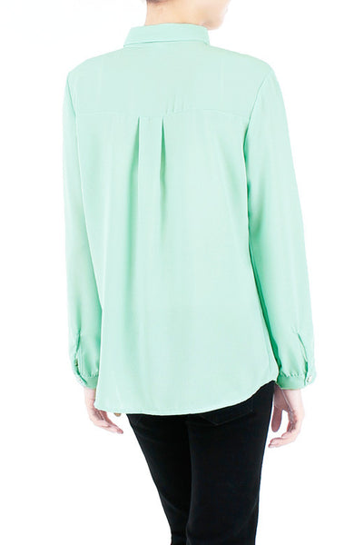 Gentle Sentiment Long Sleeved Shirt - Mint