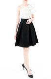 Great Grandeur Satin Skirt - Noir Black