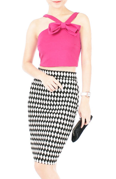 Hello Bow! Crop Top - Pink