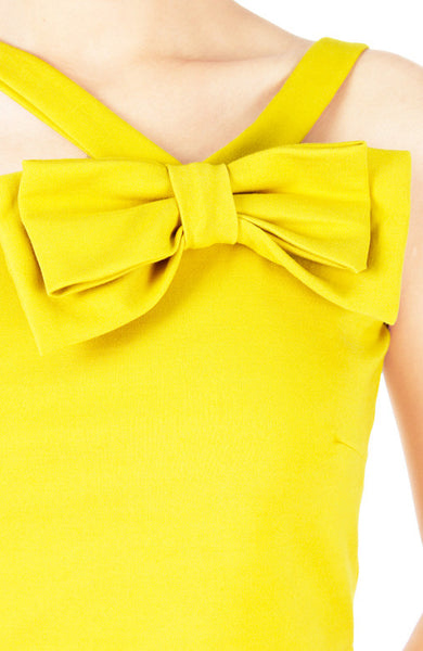 Hello Bow! Crop Top - Yellow