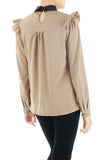 Hidden Secrets Long Sleeve Blouse - Caramel
