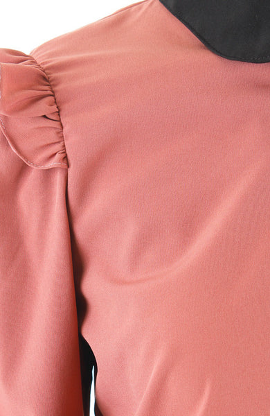Hidden Secrets Long Sleeve Blouse - Damask Pink