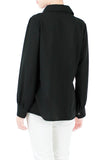 Inspired Endeavors Pintuck Work Blouse - Black