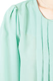Let Me Pintuck It Blouse - Spearmint
