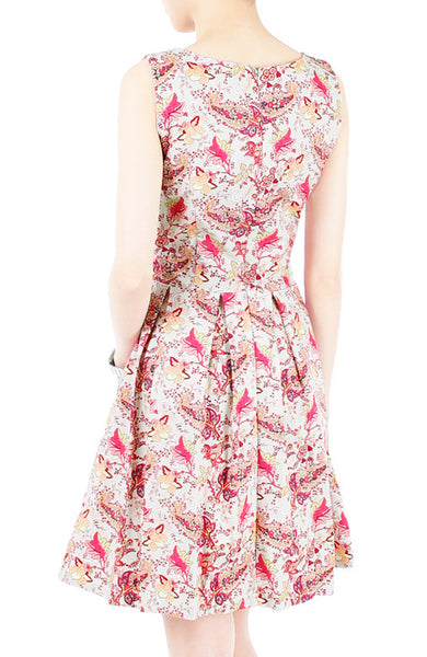 Paisley Posh Power Flare Dress