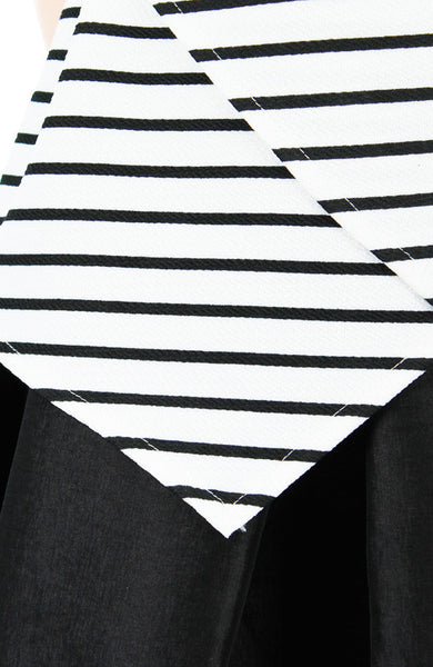 Perfect Architect Stripe Blouse - White