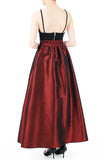 Prestige Satin Flare Maxi Skirt - Ruby Red