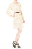 Romantic Escape Floral Lace Dress - Cream