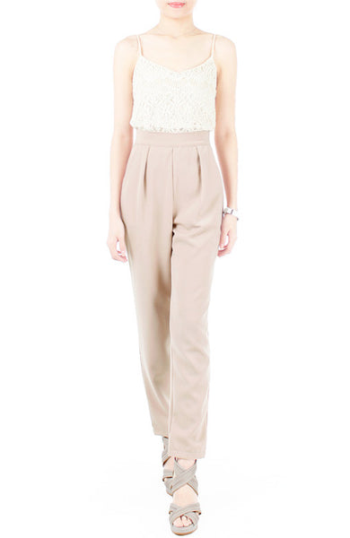 Savvy Business Pleated Trousers – Wheat